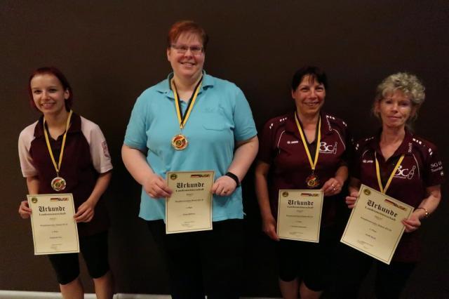Platz 1: Dana Die�ner Platz 2: Stephanie Elze Platz 3: Christina Rohowski Platz 3: Steffi Bach