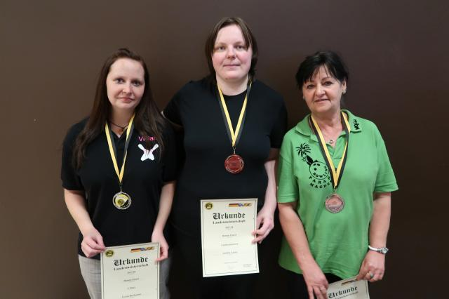 LEM Damen: Platz 1: Sandra Ginter Platz 2: Vivian Buchmann Platz 3: Helga Honigmann